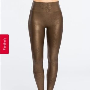 "NWT SPANX ""Bronze Metal"" Faux Leather"